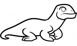 302x182 How To Draw How To Draw A Komodo Dragon For Kids