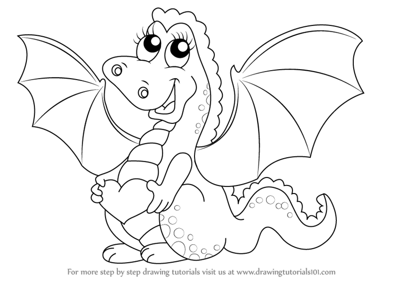 800x567 Learn How To Draw A Baby Dragon For Kids (Dragons) Step By Step