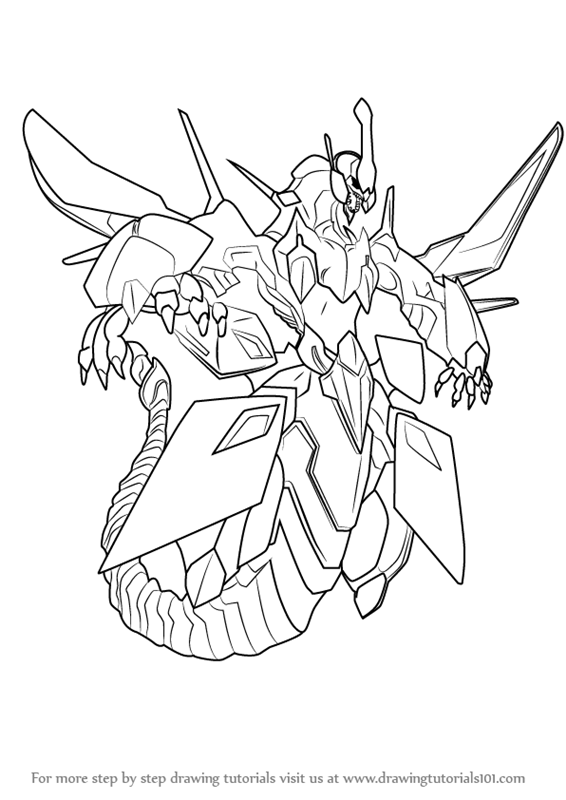 566x800 Learn How To Draw Clear Wing Synchro Dragon From Yu Gi Oh
