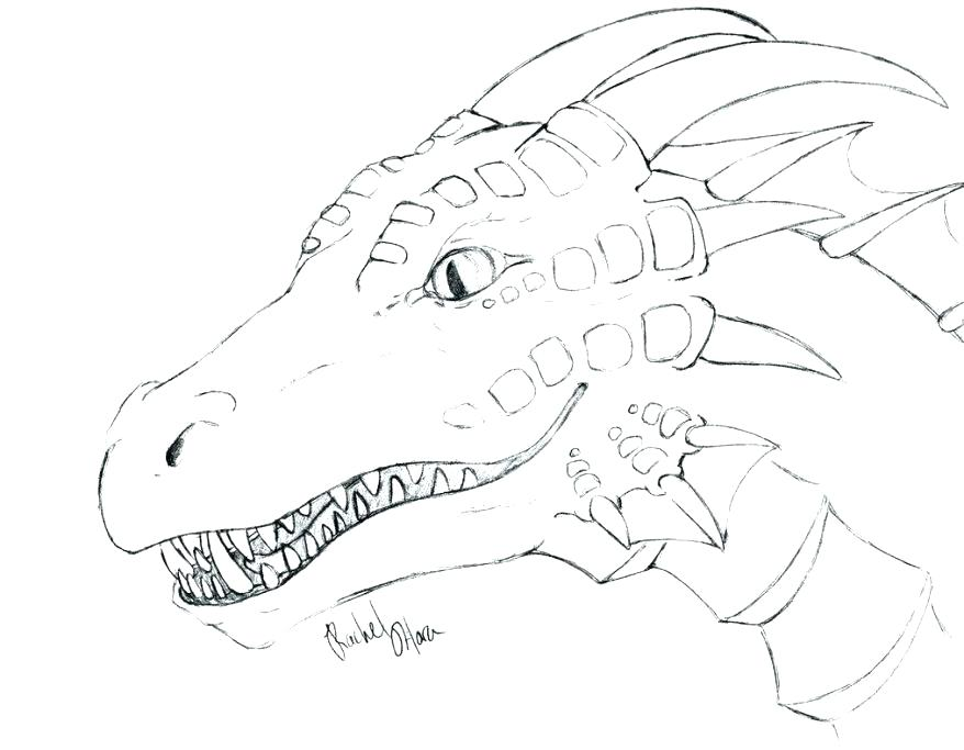 878x683 Dragon Head Coloring Page Dragon Head Coloring Page Dragon Head