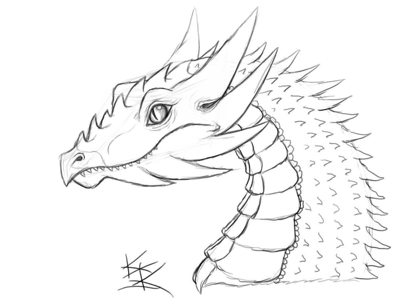 1280x965 Dragon Sketch by Techdrakonic on DeviantArt