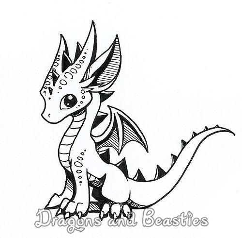 500x490 Inktober Little Dragon By Dragonsandbeasties