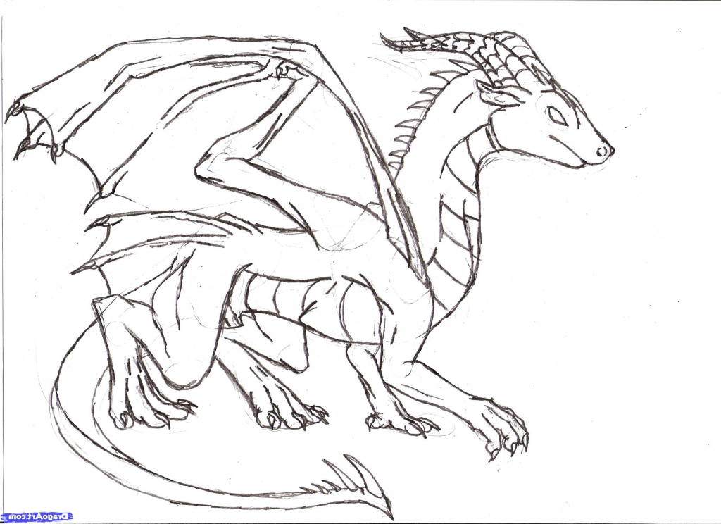 1024x744 Simple Dragon Drawing Simple Dragon Drawing Pencil Sketch Drawing