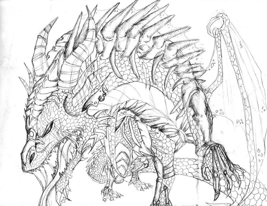 900x695 Dragon Pencil Art 2 By Crystalchik