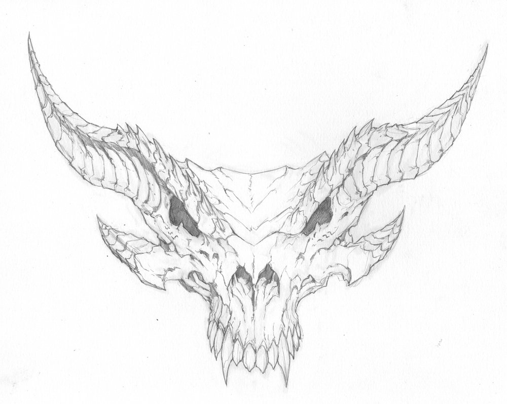 1000x798 Dragon Skull Pencil art — Tyler Walpole#39s Blood of Dragons