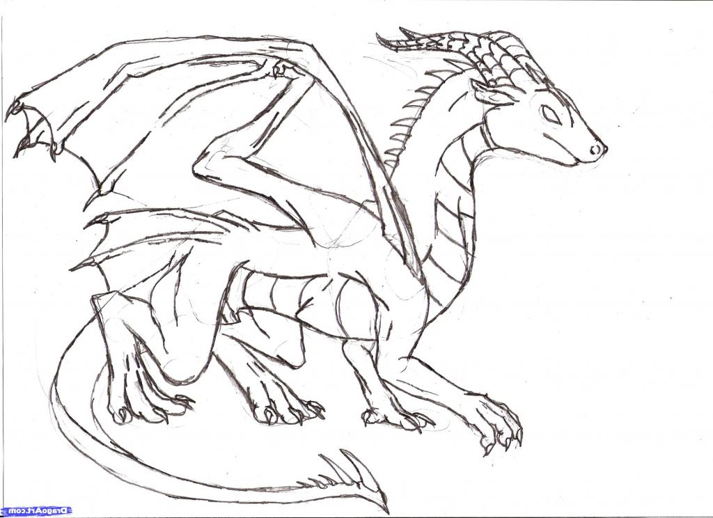 1024x744 Gallery Dragon Simple Pencil,