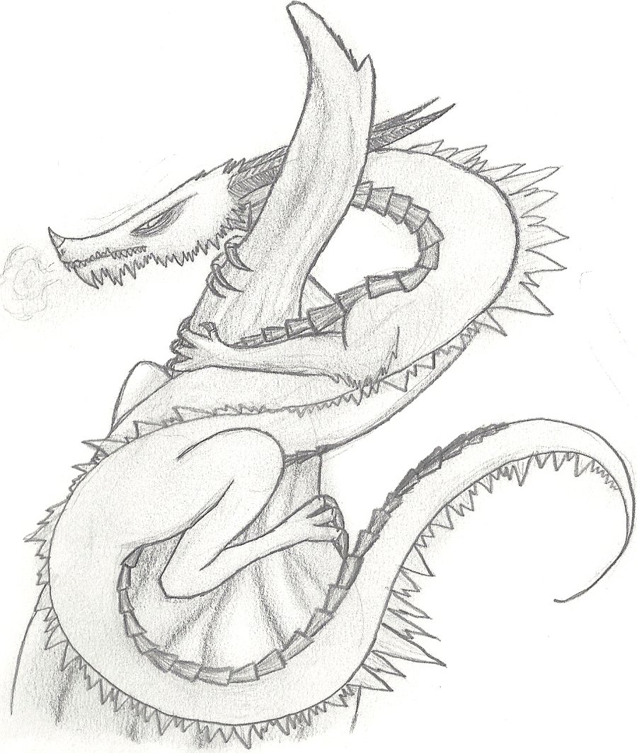 900x1064 Ice Dragon Pencil Drawing By Xraggsokkenx