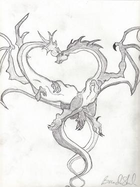 280x375 Pencil Drawings Dragons Pen, Pencil and Color Pencil Drawings of