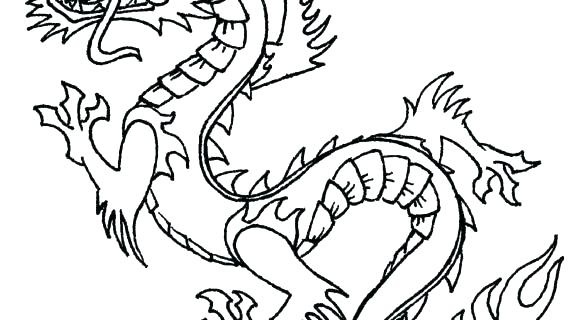 570x320 Dragon Head Coloring Page Free Printable Dragon Coloring Pages