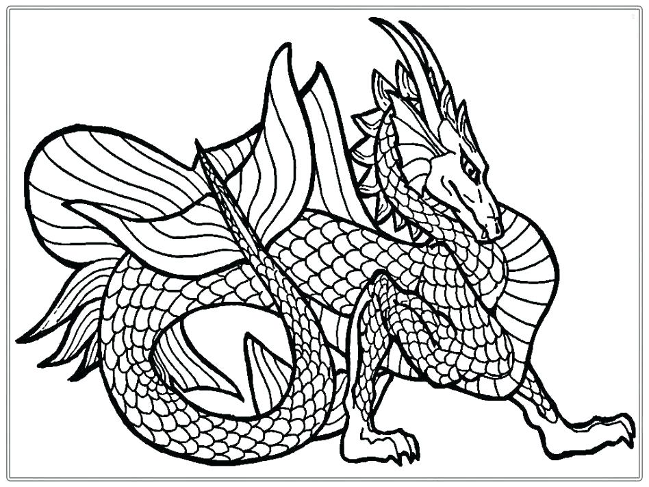 948x711 Dragon Head Coloring Page New Year Drawing Pages Printable Artsy
