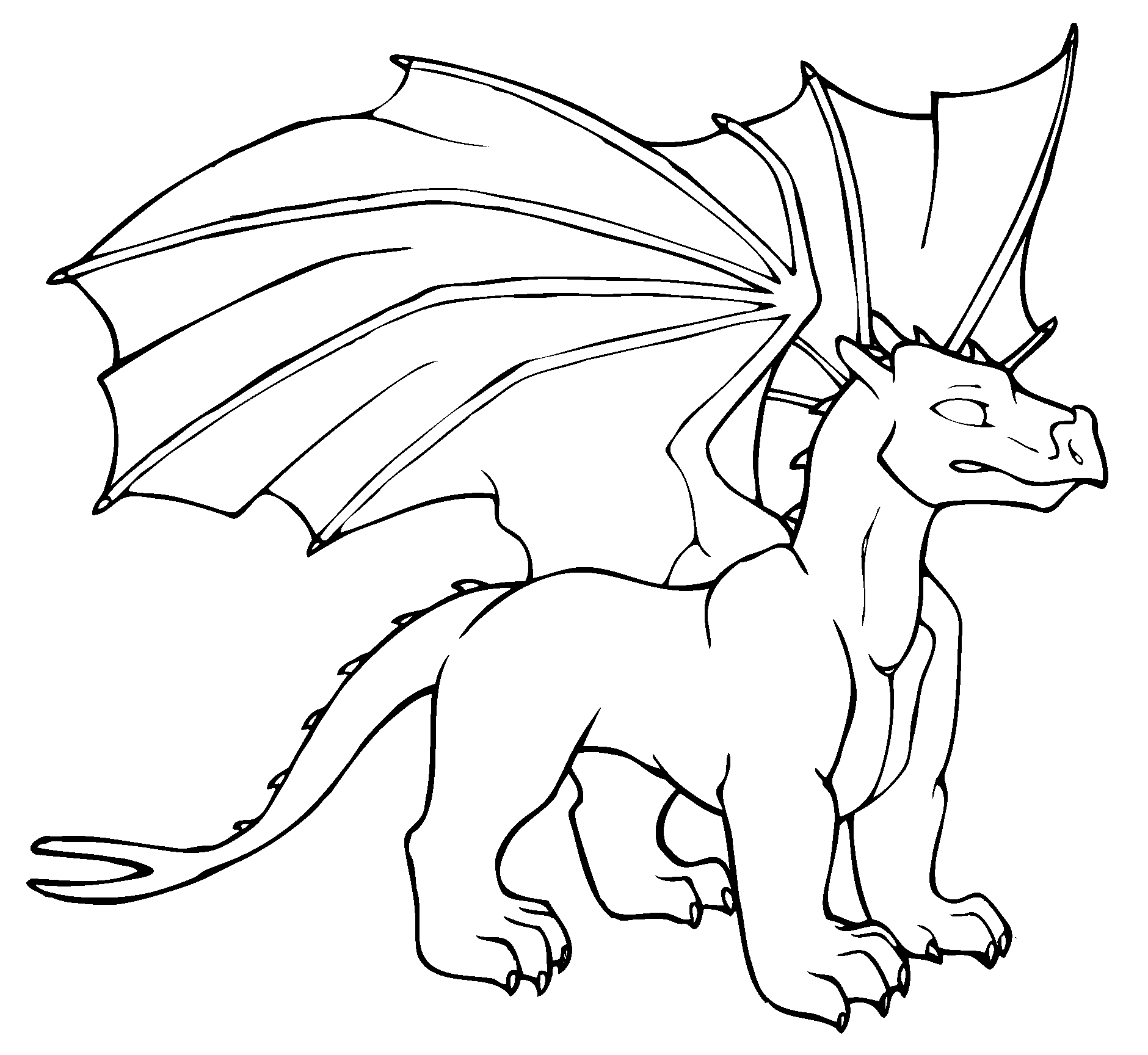 1880x1728 Coloring Book Dragon Page For Kids
