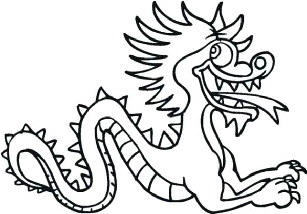 600x417 Chinese New Year Dragon Coloring Pages Dragons Drawings For Kids