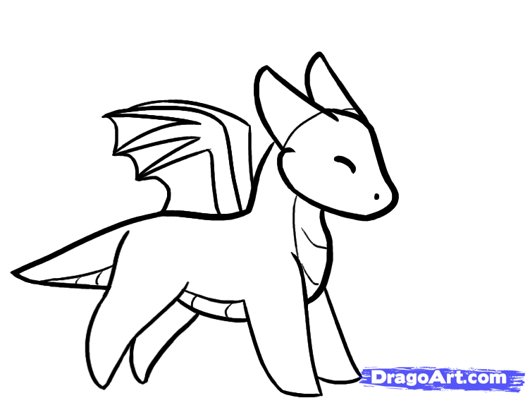 752x564 Coloring Pages Simple Dragons To Draw Dragon Drawing How A