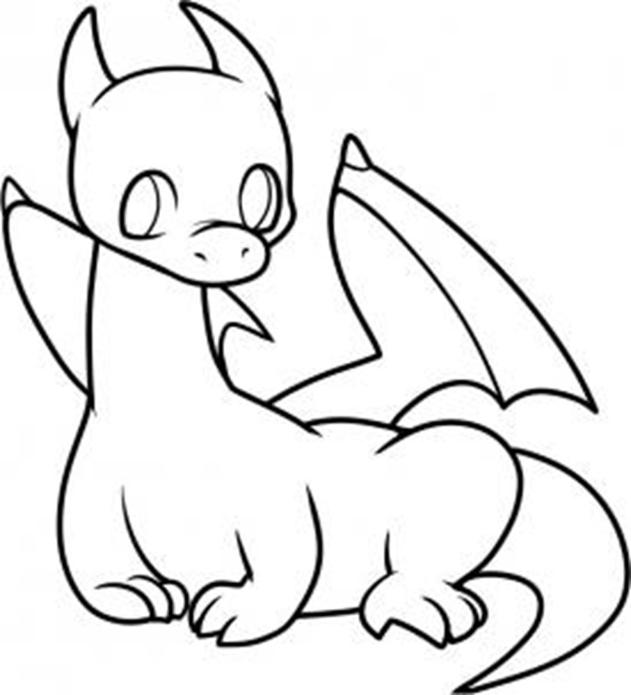 907x999 Dragon Drawings Easy How To Draw A Simple Dragon, Stepstep