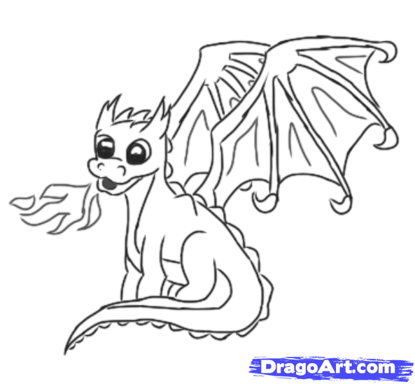 593x549 How To Draw A Easy Cute Dragon How To