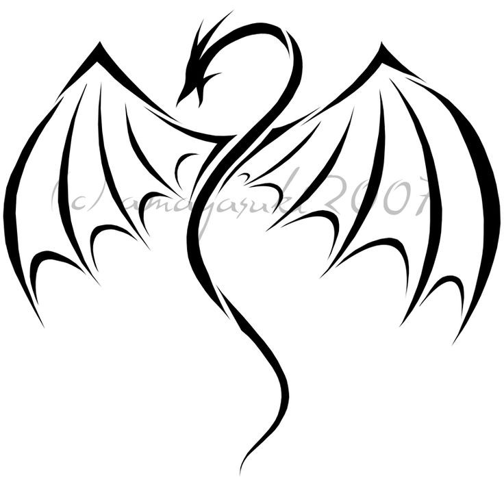 736x707 Simple Dragon Images