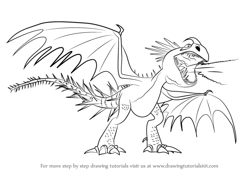 800x565 Learn How To Draw Deadly Nadder From How To Train Your Dragon (How
