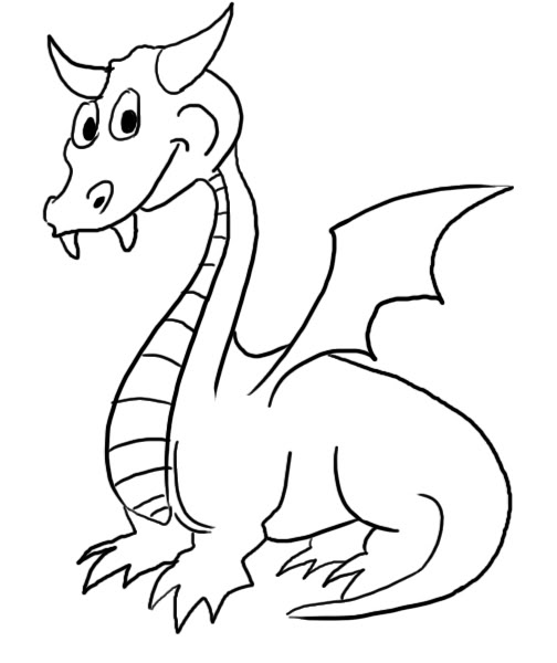 504x600 dragon outline drawing free download