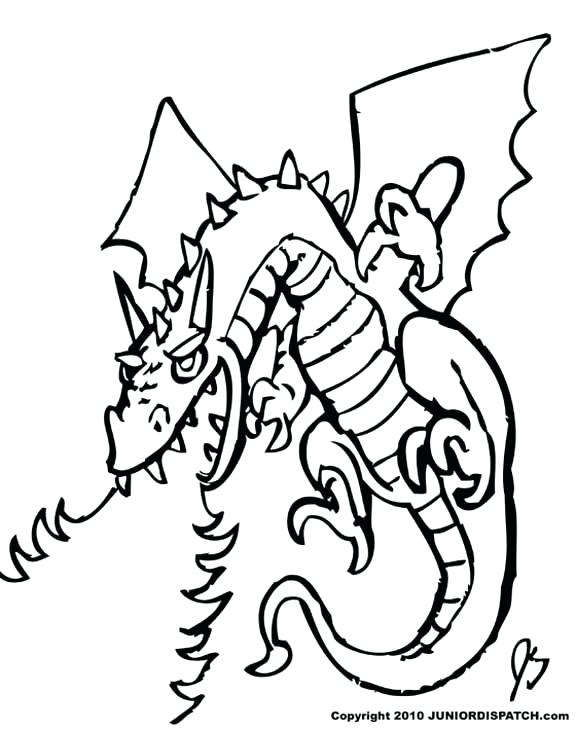 576x729 Dragon Coloring Pages Printable Http Procoloring Com