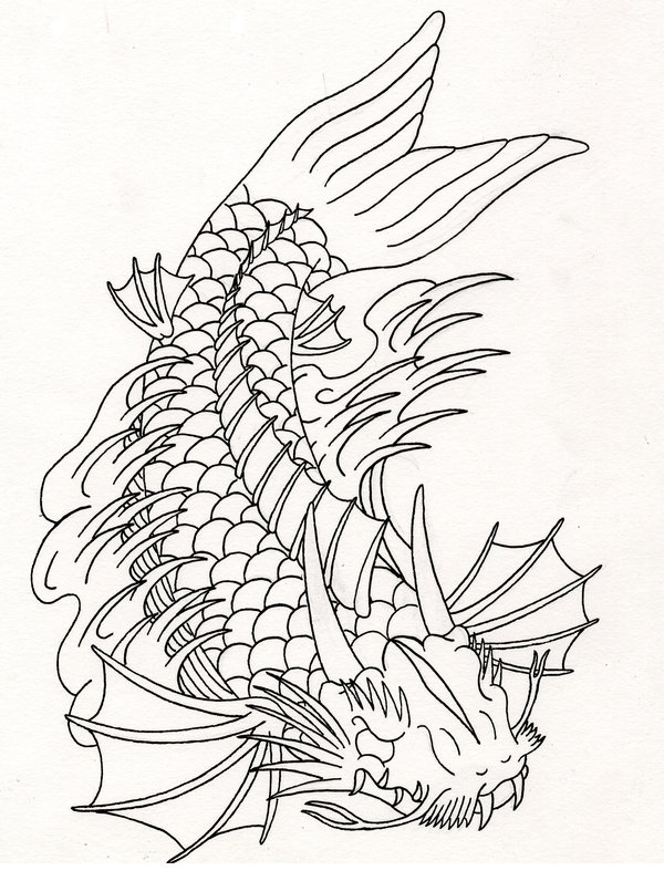 Dragon Fish Drawing
