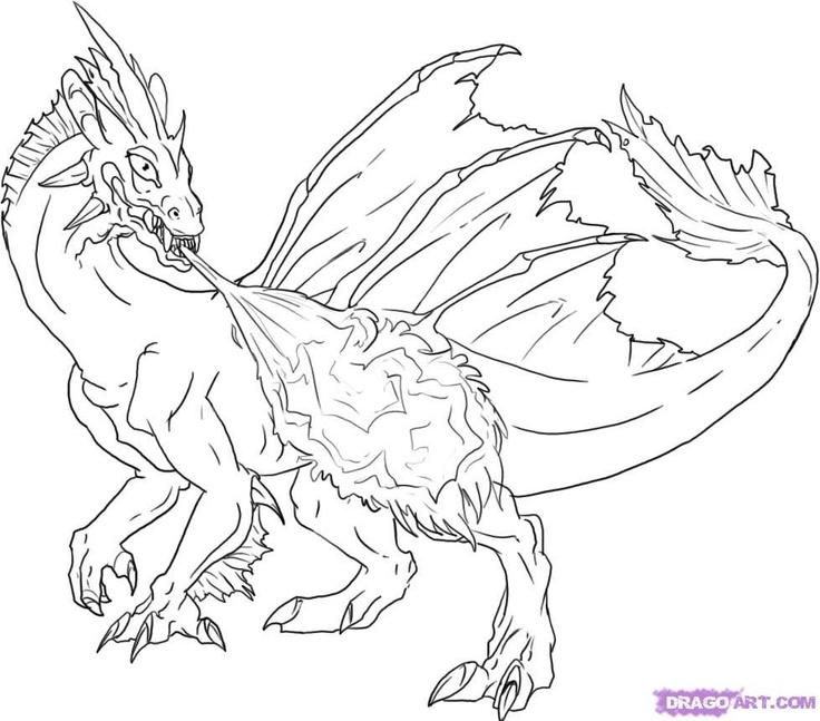 Dragon Flames Drawing