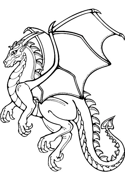 dragon flying drawing at getdrawings com free for personal use