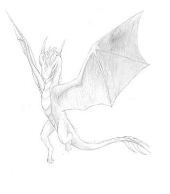 350x400 Hand Drawn Dragon By Ai Ryu