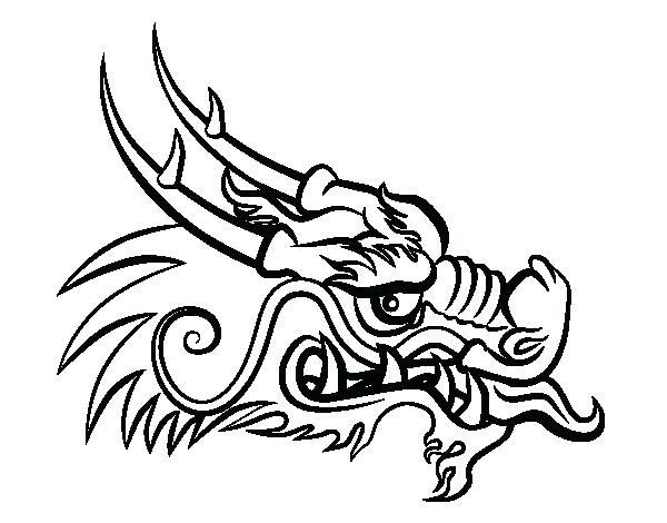 Dragon Head Drawing at GetDrawings   Free download