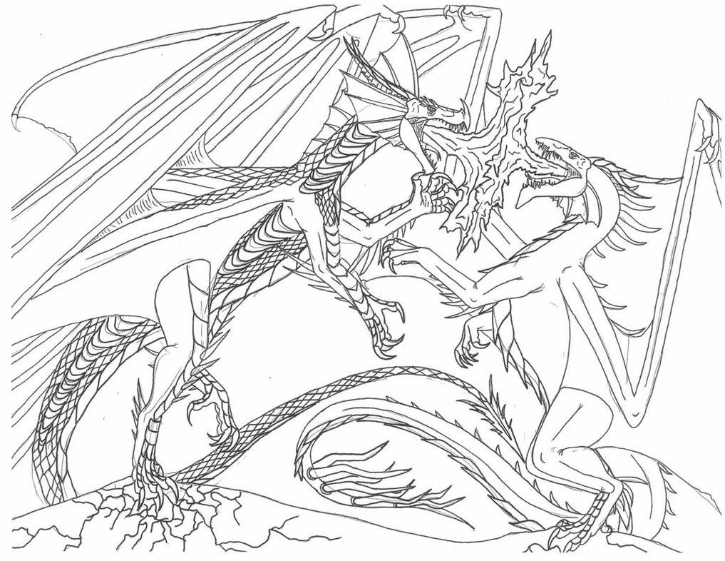 1017x786 Dragon Battle By Saberrex