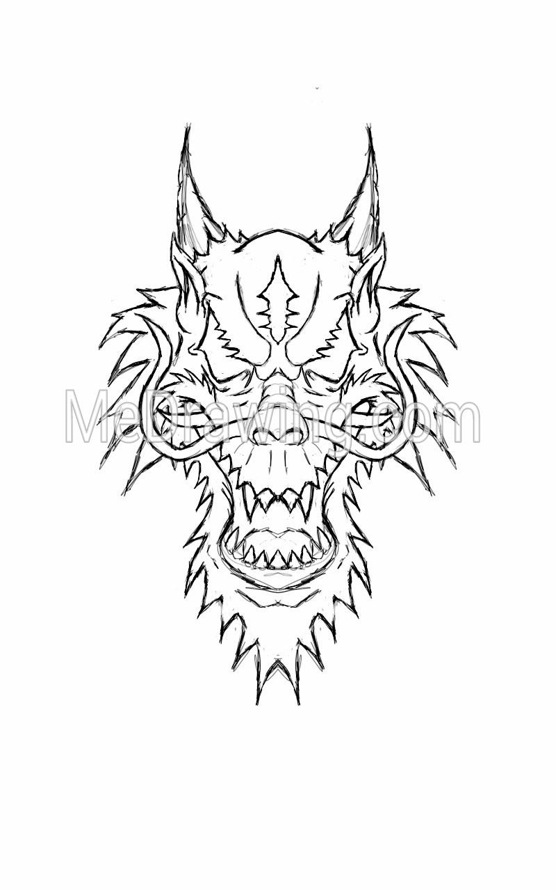 800x1280 Dragon Head Sketch