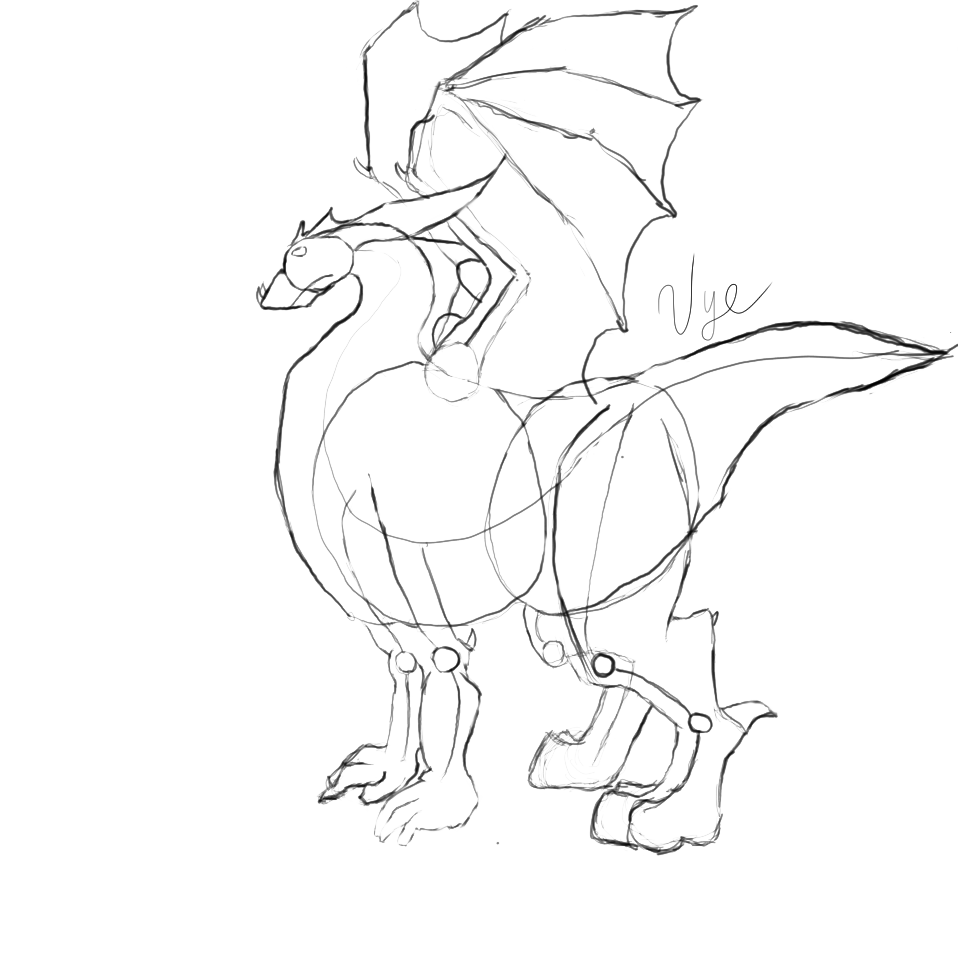 958x970 Dragon How To Draw It In 6 Steps Using Simple Shapes