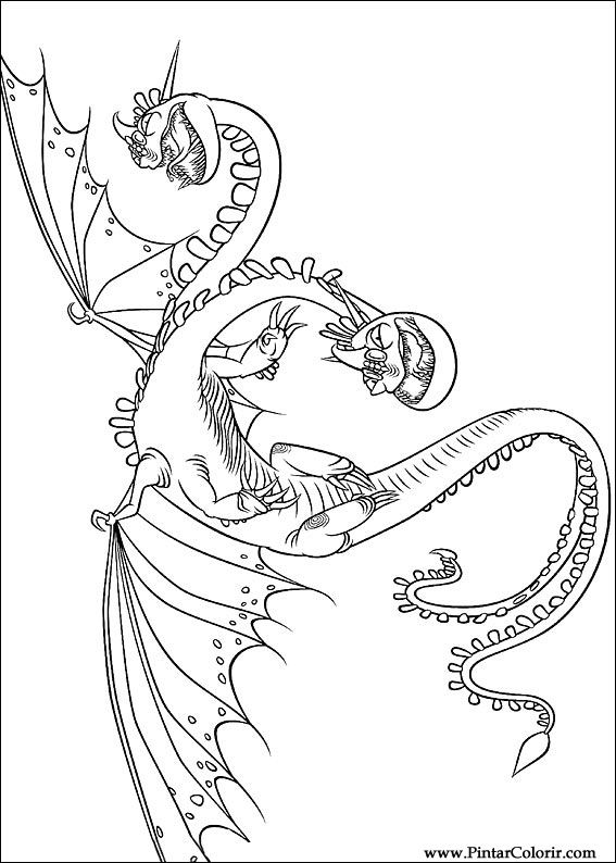 567x794 Drawings To Paint Amp Colour Dragon