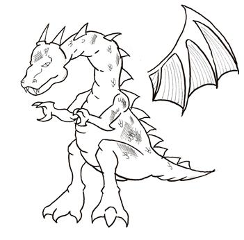 351x346 How To Draw A Dragon