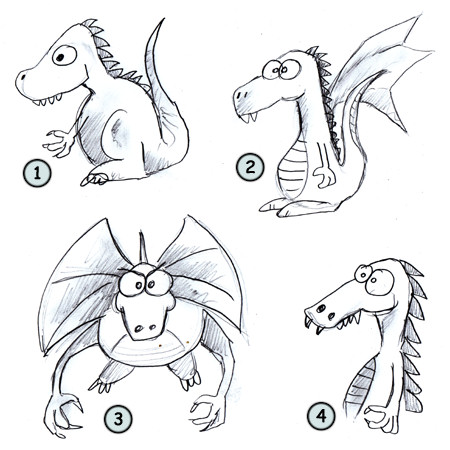 450x450 How To Draw Dragons