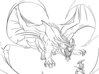 320x240 Cool Dragon Pictures To Color Dragon Coloring Pages Vs Knight