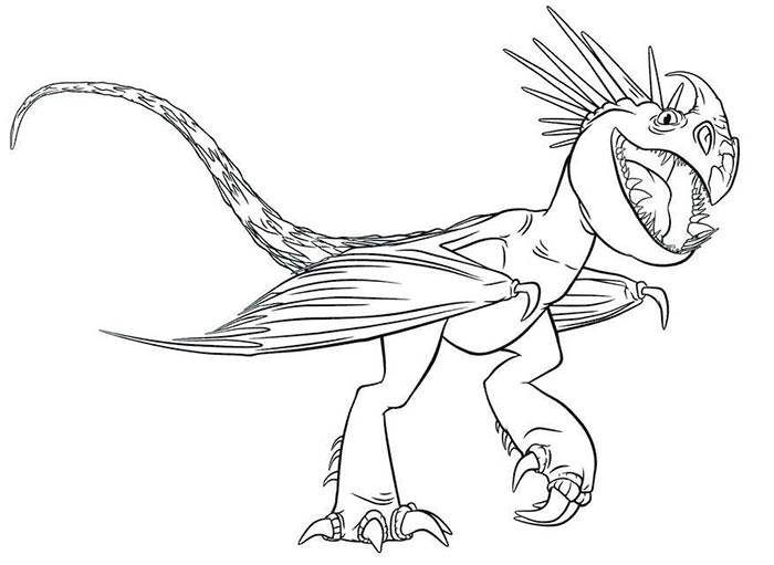 700x511 Dragon Outline Template