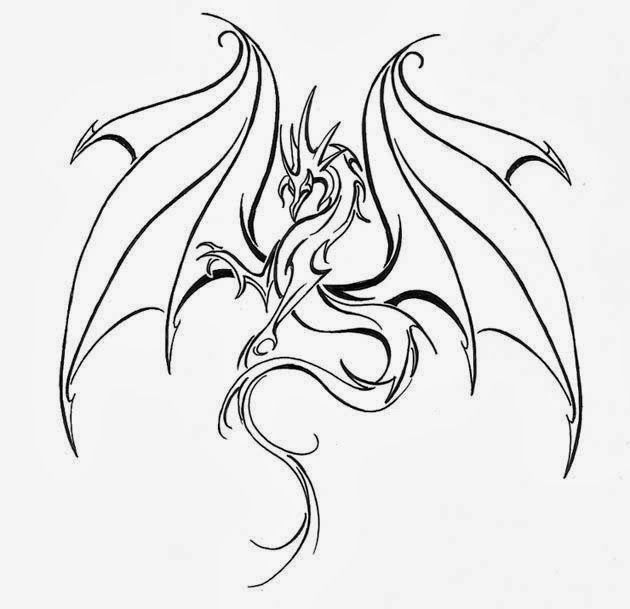 630x609 Dragon Tattoo Outline Drawings Drawings Outline