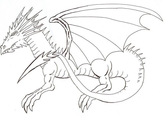 700x486 Dragon Template