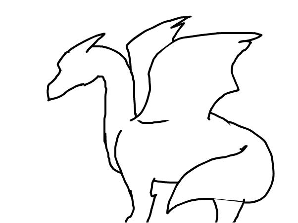 602x452 Dragon Outline