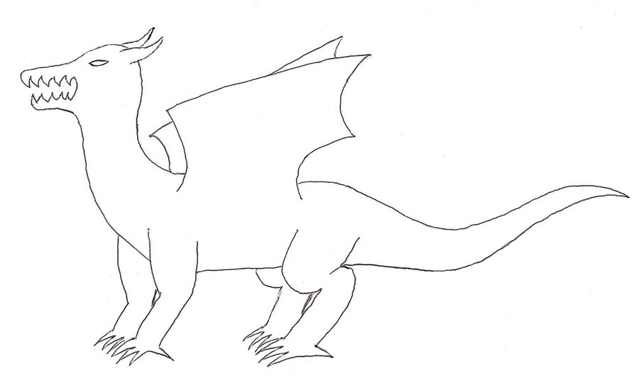 Dragon Simple Drawing