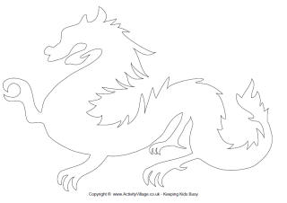 dragon outline template melo in tandem co