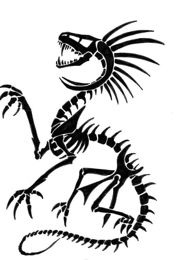 Dragon Skeleton Drawing