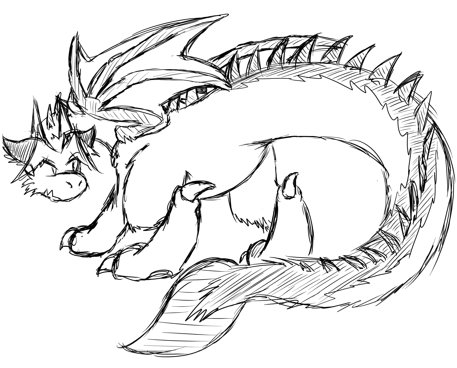 Dragon Tail Drawing