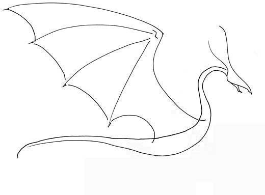 Dragon Wing Drawing at GetDrawings.com | Free for personal use ...