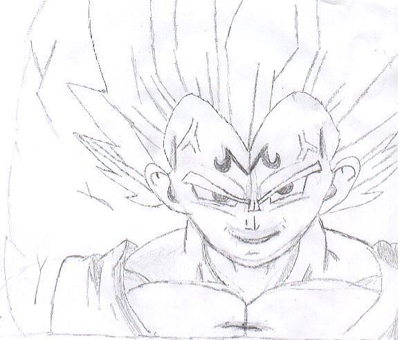 581x491 Dragon Ball Z Majin Vegeta Drawing Hd Wallpaper Gallery