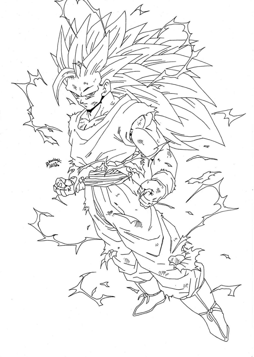Dbz Group Coloring Pages - Worksheet & Coloring Pages