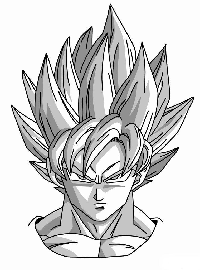 759x1024 How To Draw Goku Super Saiyan From Dragonball Z Diy