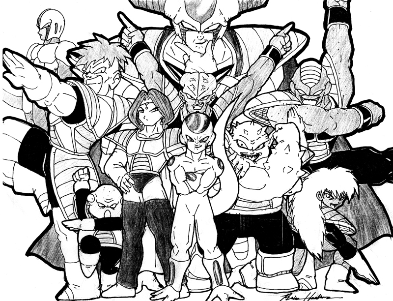 800x612 The Cast Of Dragonball Z By Xcbdh