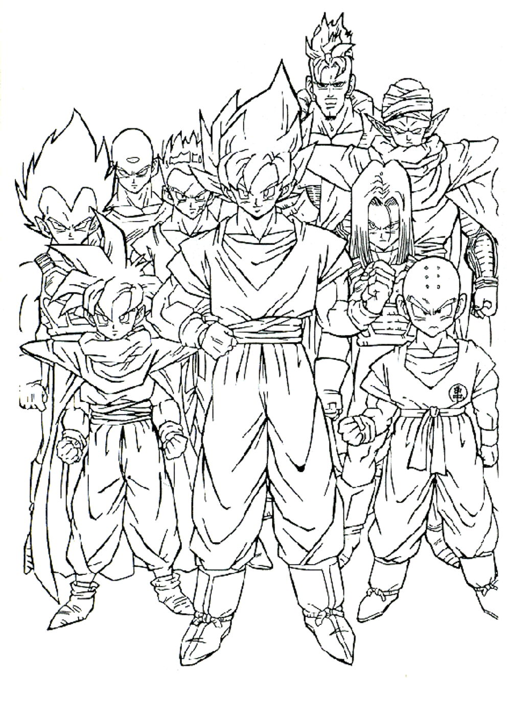 1000x1375 Dragon Ball Z Coloring Pages Printable