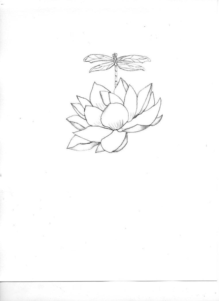 Lotus Flower Dragonfly Tattoo Flowers Healthy